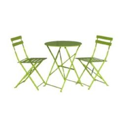 SupaGarden Folding Bistro Set - Lime Green
